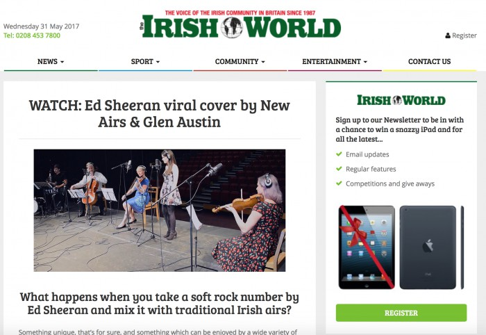 Irish World Article photo